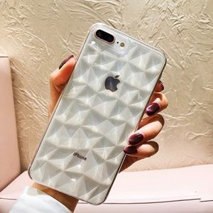 Crystal Diamond Clear Case for iPhone X/XS